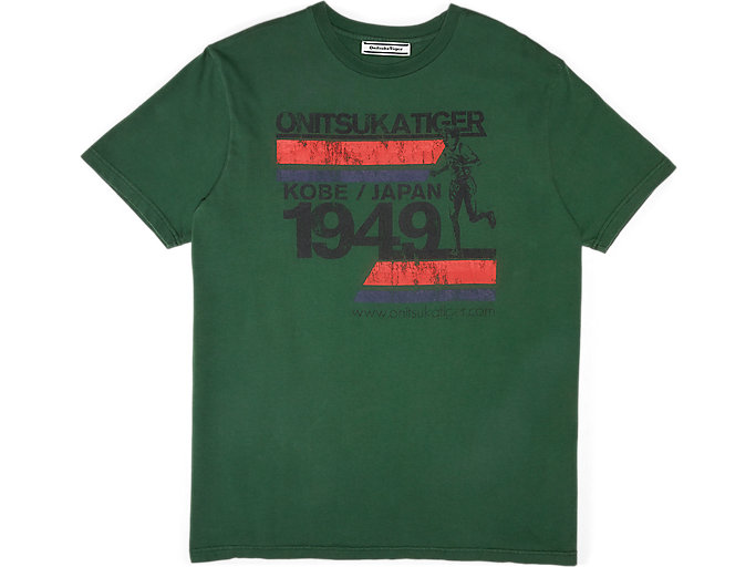 Alternative image view of WASHED GRAPHIC TEE, MANTLE GREEN