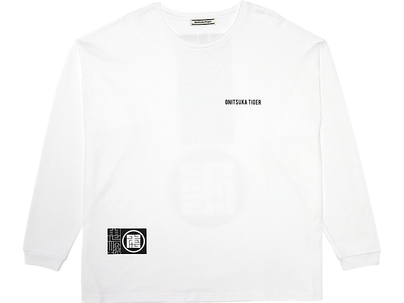 LONG SLEEVED GRAPHIC TEE REAL WHITE 1 FT