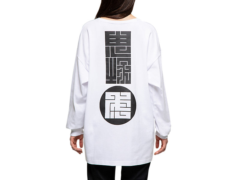 LONG SLEEVED GRAPHIC TEE REAL WHITE 9 Z