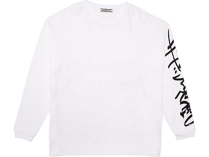 Alternative image view of LS GRAPHIC TEE, REAL WHITE/PERFORMANCE BLACK