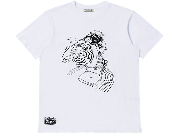 Alternative image view of GRAPHIC TEE, Real White/Performance Black