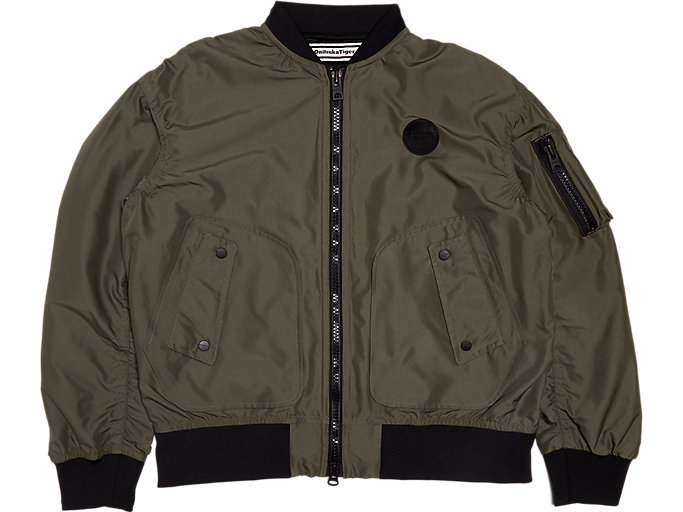 Front Top view of BOMBER JACKET