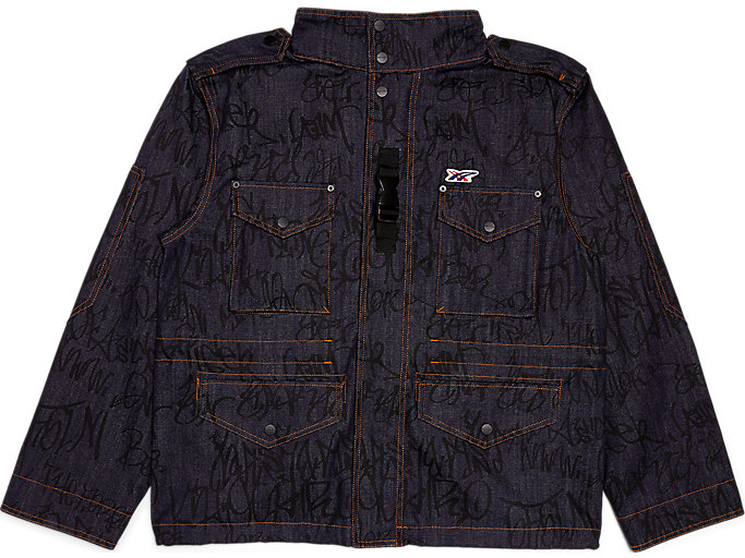 Alternative image view of Bedruckte Jeans-Outerwear, Peacoat/Performance Black