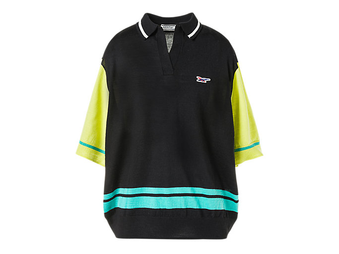 Alternative image view of SS POLO KNIT, Performance Black/Huddle Yellow