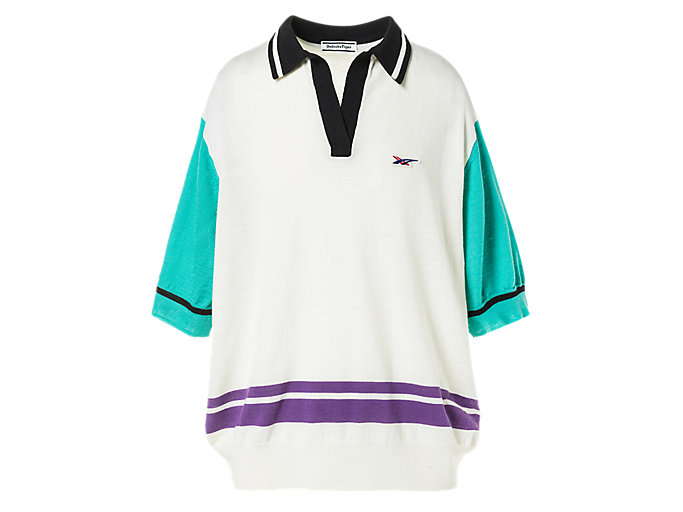 Alternative image view of SS POLO KNIT, REAL WHITE/LAGOON