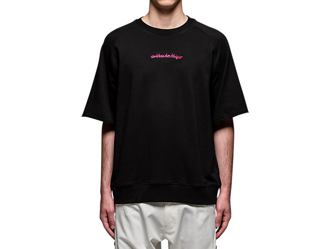 Alternative image view of SHORT SLEEVE TOP, Performance Black/Hot Pink