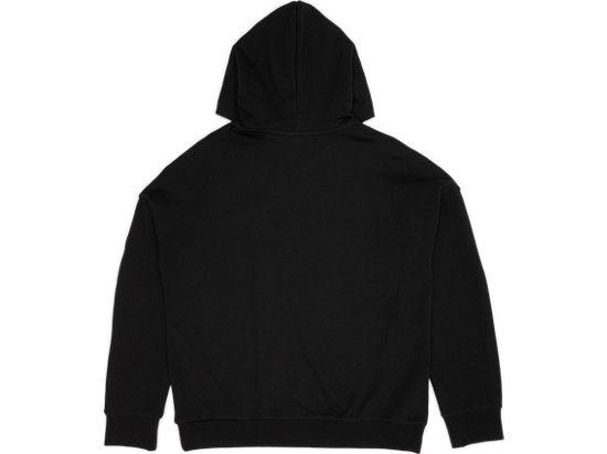 LOGO長袖帽T BLACK
