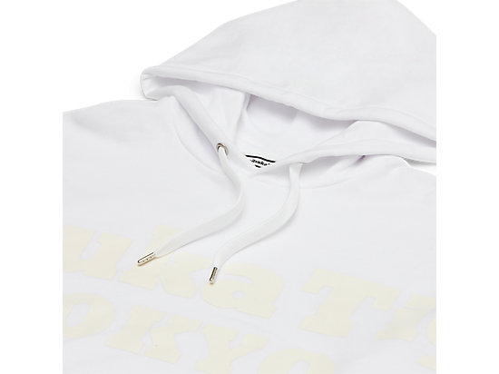 LOGO長袖帽T WHITE