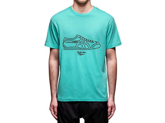 Alternative image view of GRAPHIC TEE, LAGOON