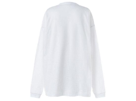 中性長袖上衣 WHITE