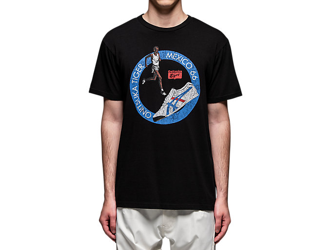 Alternative image view of WASHED GRAPHIC TEE, Performance Black