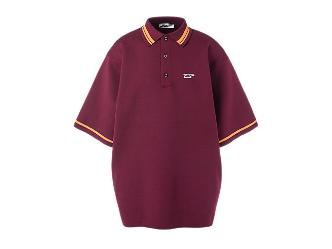 Alternative image view of KNIT POLO, Burgundy
