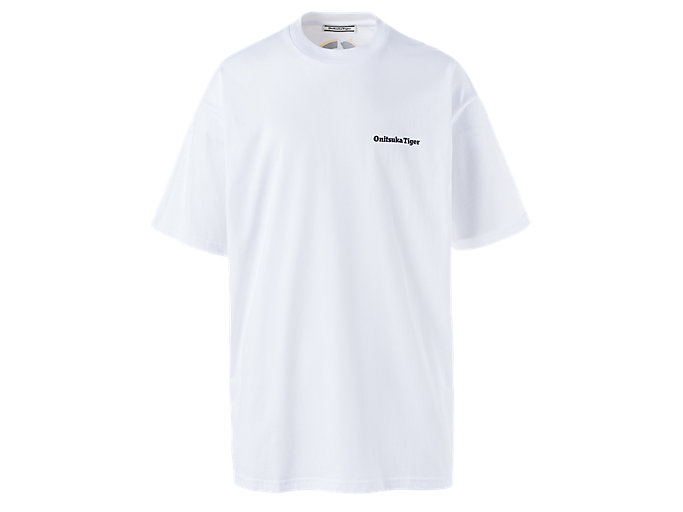 Alternative image view of OVERSIZE GRAPHIC TEE, Real White