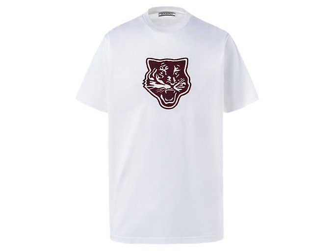 Alternative image view of T-shirt CON GRAFICA, Real White/Burgundy