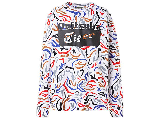 Alternative image view of LS SWEAT TOP, Real White