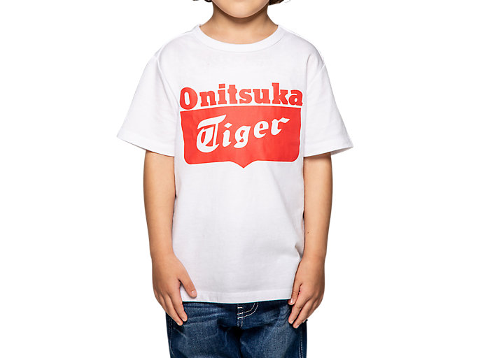 Alternative image view of CAMISETA CON LOGOTIPO DE NIÑO, Real White/Fiery Red
