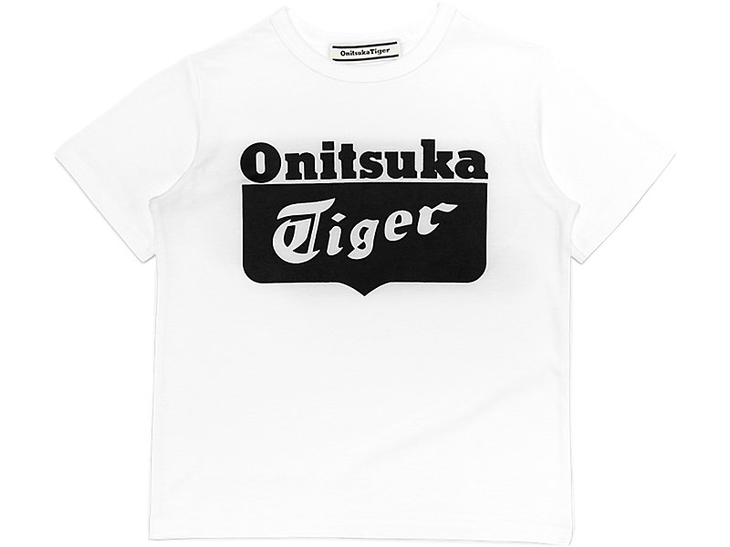 KIDS LOGO TEE WHITE/BLACK 17 Z