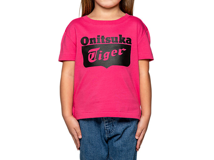 Alternative image view of KID LOGO TEE, Hot Pink