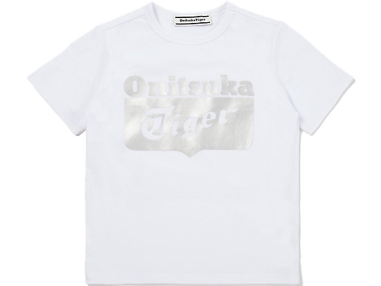 KID LOGO TEE WHITE/SILVER