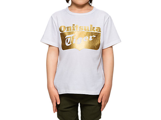 KID LOGO TEE WHITE/GOLD