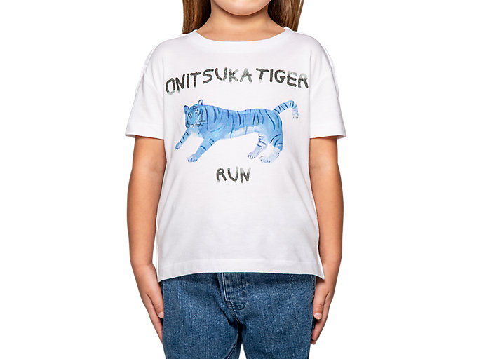 Alternative image view of KIDS GRAPHIC TEE, Real White/Directoire Blue