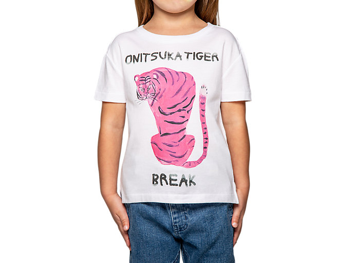 Alternative image view of T-SHIRT GRÁFICA PARA CRIANÇA, Real White/Hot Pink