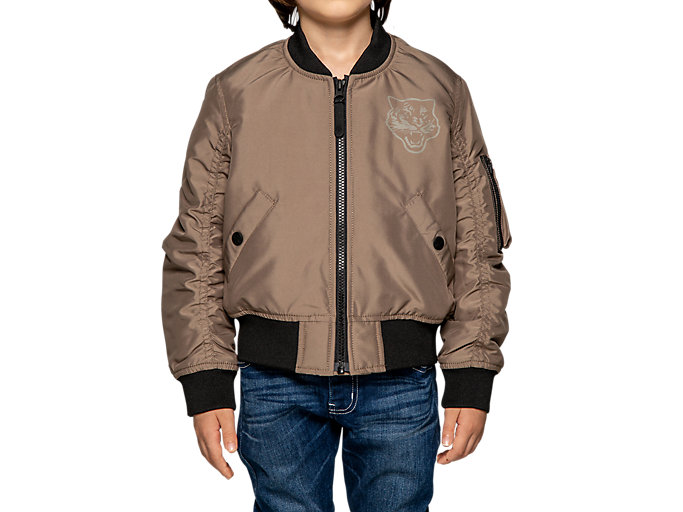 Alternative image view of KIDS BOMBER JACKET, Dark Taupe