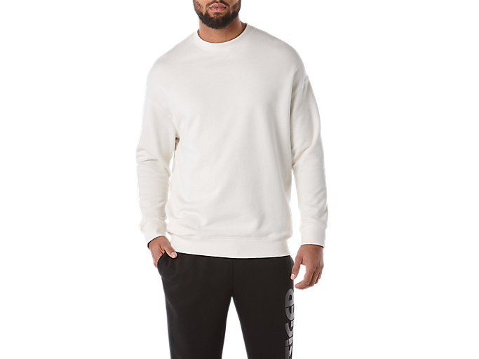 Front Top view of BL Sweat Crew, CREAM