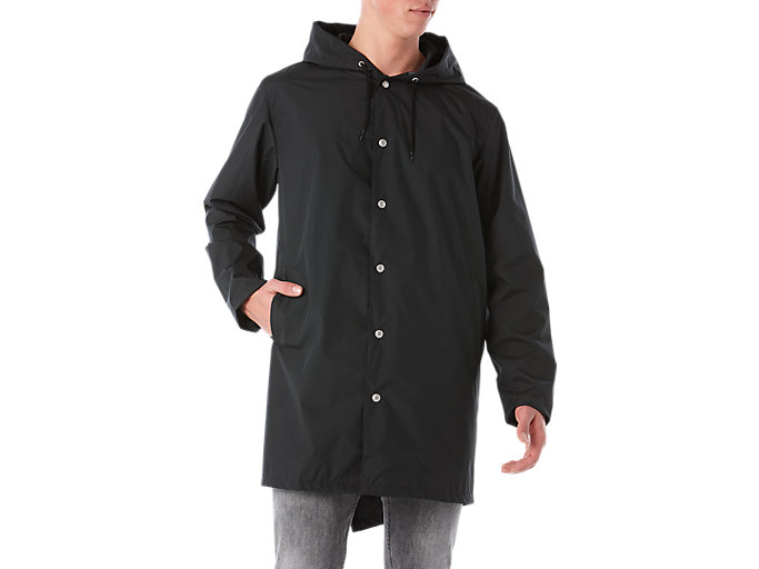 Front Top view of BL Long Coach JKT, PERFORMANCE BLACK