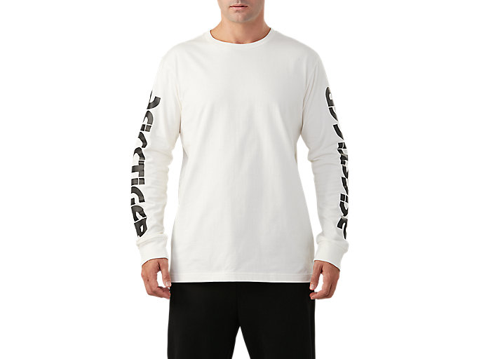 Men's Big Logo Long Sleeve T-Shirt | Cream | Long Sleeve Shirts ...