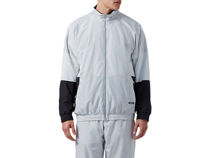 Front Top view of CBTrack Jacket, GLACIER GREY