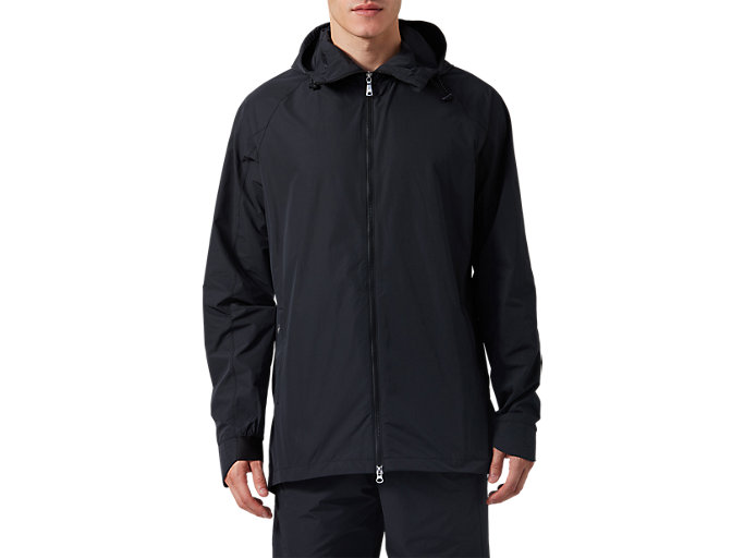 Front Top view of Pendlerjacke, PERFORMANCE BLACK