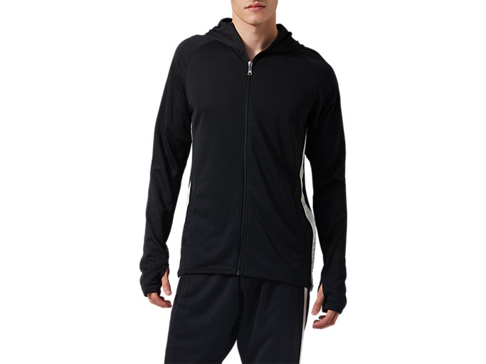Front Top view of LIGHT JERSEY JACKET, PERFORMANCE BLACK