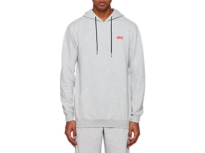 ASICS Big Logo Sweat Full Zip Hoodie  Casual   Hoodies /& Sweatshirts Grey Mens