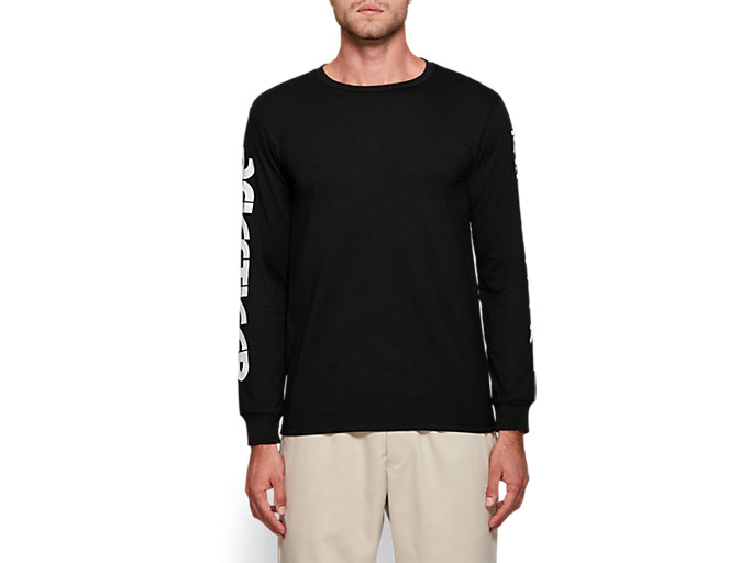 Front Top view of AT GF LS TEE, PERFORMANCE BLACK