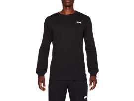 FRENCH TERRY OP LONG SLEEVED CREW TOP