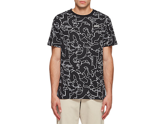 JSY AOP SHORT SLEEVE TEE PERFORMANCE BLACK
