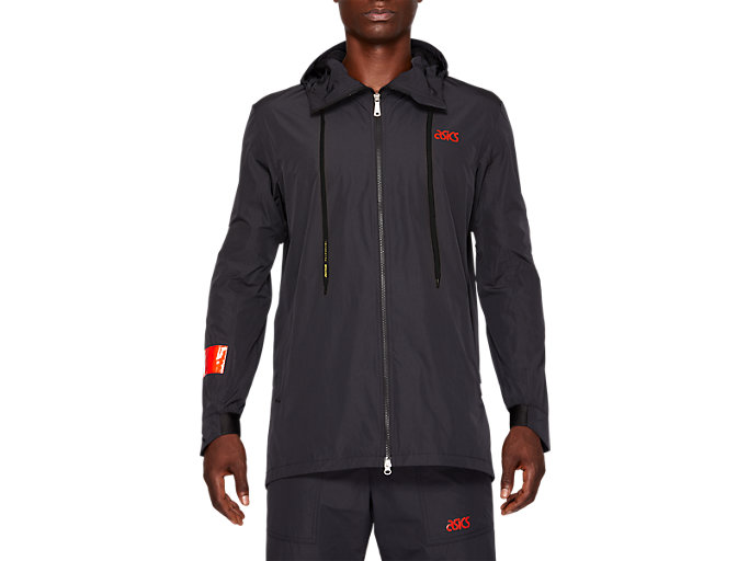Front Top view of WVN COMMUTER JKT, PERFORMANCE BLACK