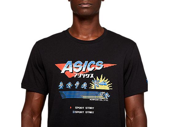 ASICS X MEGAMAN GRAPHIC SS TEE 1 MID GREY HEATHER