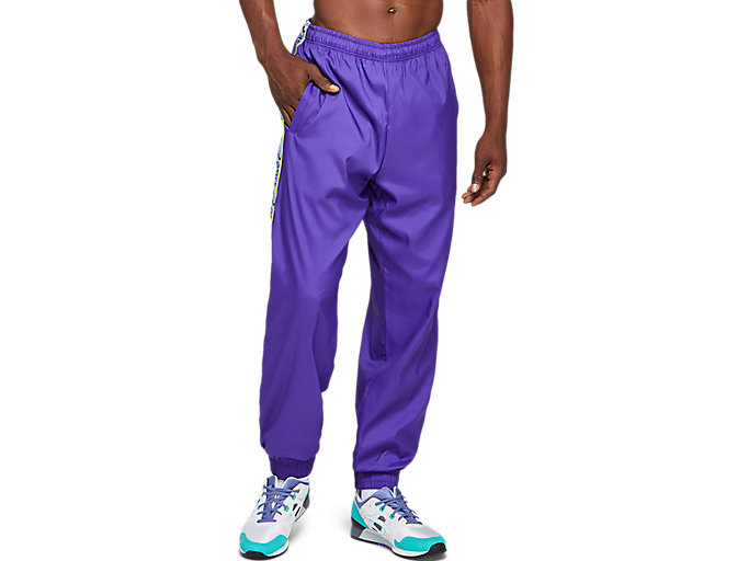Alternative image view of STRETCH WOVEN RETRO PANT, Gentry Purple