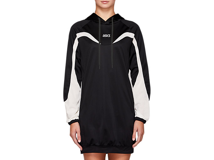 Front Top view of W JSY SPORTS MOMENT DRESS, PERFORMANCE BLACK
