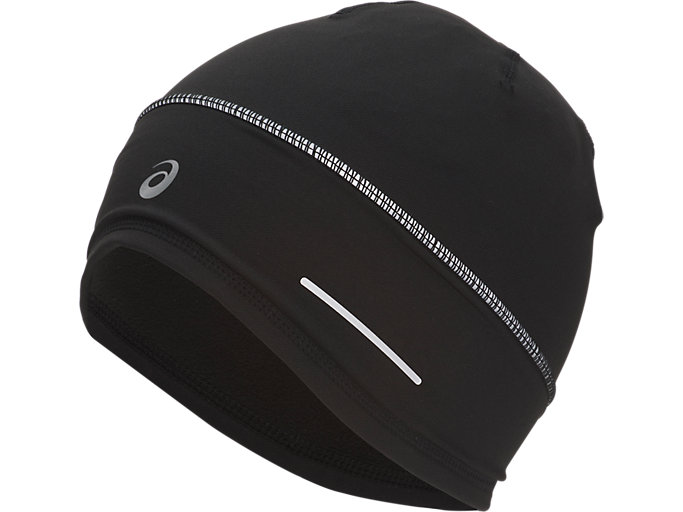 Front Top view of LITE-SHOW BEANIE, PERFORMANCE BLACK/PERFORMANCE BLACK