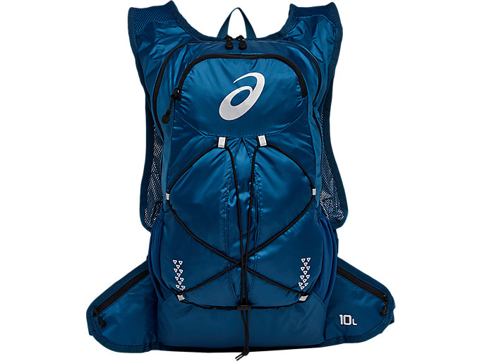 Front Top view of LIGHTWEIGHT RUNNING BACKPACK, mako blue/performance black