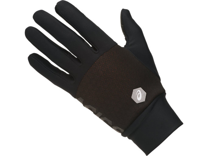 Front Top view of THERMAL GLOVES, PERFORMANCE BLACK/PERFORMANCE BLACK