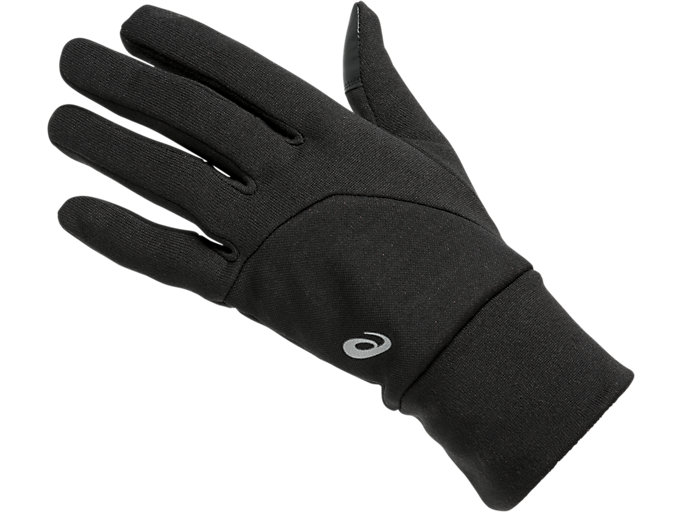 Front Top view of THERMAL GLOVES, PERFORMANCE BLACK