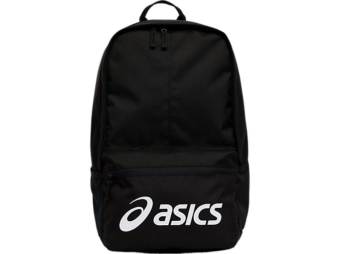 Front Top view of SPORT LOGO BACKPACK, performance black