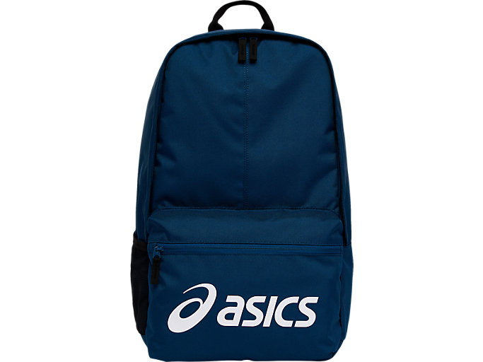 Front Top view of SPORT LOGO BACKPACK, mako blue