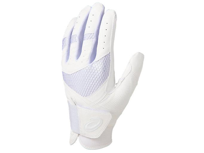 Alternative image view of GOLDSTAGE バッティング用手袋, ホワイト×ホワイト