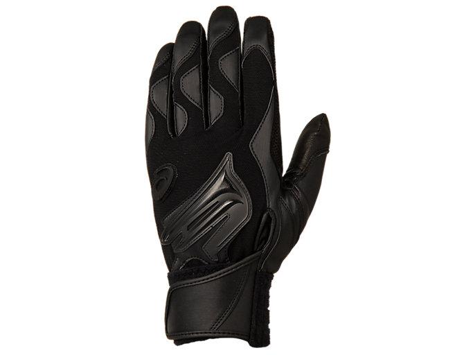 Alternative image view of GOLDSTAGE バッティング用手袋, ブラック×ブラック