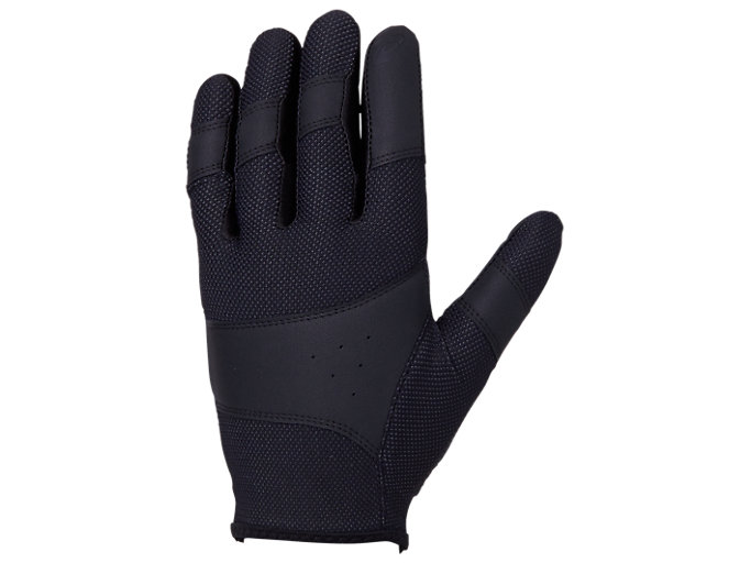 Alternative image view of インナーグローブ 守備用手袋, ブラック×ブラック